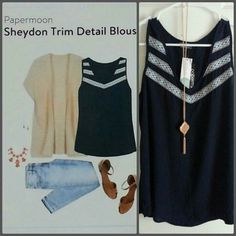 Like: more like LOVE this top. Papermoon sheydom trim blouse.