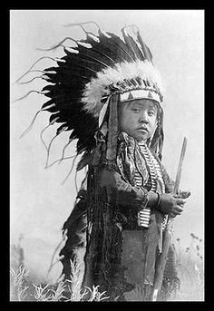 A poster print on canvas of A Cheyenne Warrior of the Future