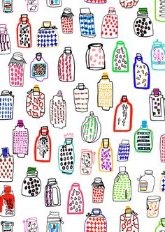 pattern by Minakani #bottles #minakani