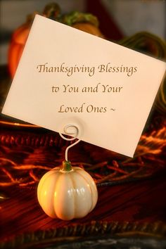 Print out a note for you holiday party table from Once Upon a Plate: Happy Thanksgiving