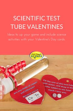 Here are some ideas to up your game and include science activities with your Valentine's Day cards. Science Valentines, Valentines Day Activities, Valentines For Boys, Valentine Ideas, Valentine Day Cards, 4th Grade Activities, Middle School Activities, Science Activities, School Science Experiments