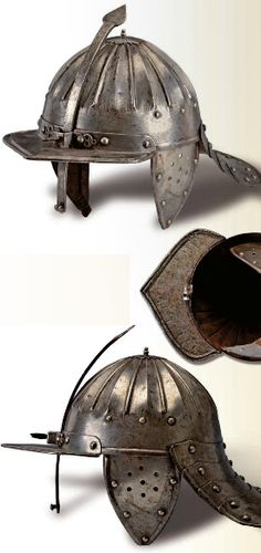 An officers lobster tail helmet, Europe, ca 17th century