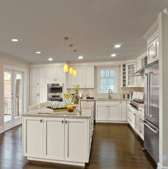 Alabaster and Pewter Glaze unite to create this dazzling kitchen.