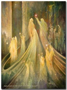 """""""Every moment is a golden one for him who has the vision to recognize it as such."""" —Henry Miller (Art: """"Procession of the Light Workers"""" by Freydoon Rassouli) ..*"""