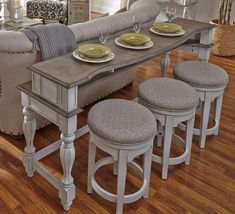Hardy Bar Table Set With Three Stools By Elements