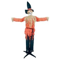 Halloween Standing Scarecrow with Moving Head