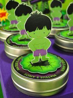 Festejar Ateliê de Festas e Lembrancinhas: O Incrível Hulk para o Mateus !