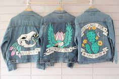 x Peggy Noland Hand Painted Denim Jacket | Denim Jackets, Jackets ...