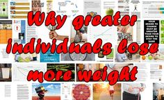 Why greater individuals lose more weight