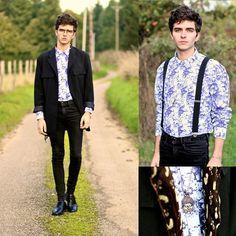 Selected Homme Shirt, Black Skinny, Straps, Aloha Helsinki Buddha Necklace, Classic Blazer
