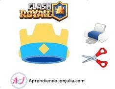 Clash Royale: Imprimibles para fiestas (invitación, corona, banderines...) - Aprendiendo con Julia