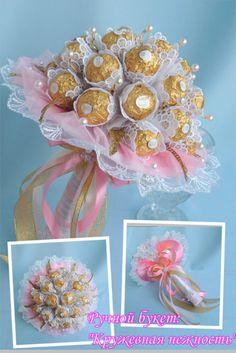 (1) Gallery.ru / Кружевная нежность - Букеты из конфет (том 2) - alena-vesna