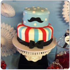 1st Birthday Party Ideas / My Mustache Themed Baby Shower Cake