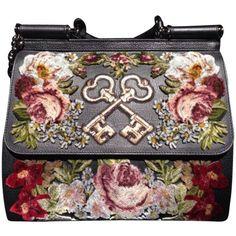 Pre-owned Dolce&gabbana Dolce And Gabbana Miss Sicily Shoulder Bag (14.480 BRL) ❤ liked on Polyvore featuring bags, handbags, shoulder bags, none, shoulder bag purse, leather shoulder bag, embroidered handbags, leather purses and leather handbags