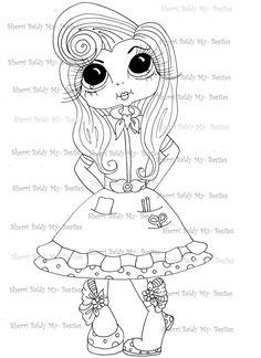 INSTANT DOWNLOAD Digital Digi Stamps Big Eye Big Head Dolls Messy Bessy My Besties Digi Img861 By Sherri Baldy