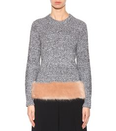 Opening Ceremony - Faux fur-trimmed sweater   mytheresa.com