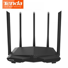 Buy Tenda Wireless WiFi Router with High Gain Antenna Whole Home Wi-Fi Repeater, English Firmware Wireless Wifi Router, Wireless Lan, Wi Fi, Router Inalámbrico, Dual Band Router, Video Surveillance Cameras, Gadgets Online, Home Network, App