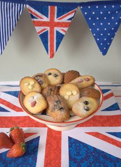 Red, White and Blue Jubilee Madeleines