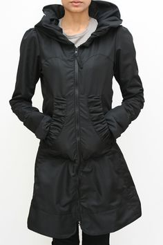 Look at this #zulilyfind! Slate Teal Ruffle Inset Raincoat - Women ...