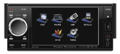 """POWER ACOUSTIK PD-535 Single DIN Multimeadia Source with Motorized Detachable 4.5-Inch Oversize LCD Touchscreen by Power Acoustik. $134.64. 1-Din 5.3"""" TFT HD Touchscreen Multimedia Source Unit plays your favorite DVD's, MP4, DIVX, & XVID movies, or MP3 audio files from a DVD-R/RW or CD-R/RW discs. Read up to a 16gb USB and SDHC cards for MP3 audio and MP4 video playback, or view & save photos with the JPG photo viewer. You will find separate front, rear, subwoofer, and lin..."""