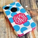 Super Cute Monogrammed Otterbox Phone Case {Dots}