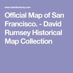 Official Map of San Francisco. - David Rumsey Historical Map Collection