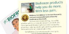 Free Biofreeze Sample