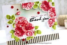 thank you card by Joni Andaya (Altenew's Vintage Roses, Many Thanks)