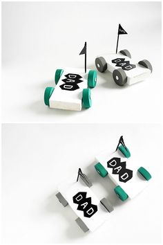 DIY Wooden Car. Make dad a rad car for Father's Day he can play with his favorite little guy (or gal)! Contributed by La Maison de Loulou