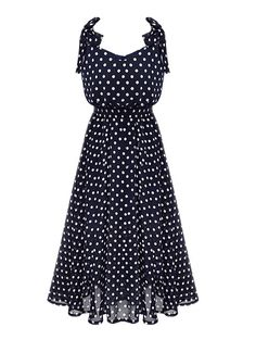 Sexy summer dots printing sleeveless A-line dress MK-2237