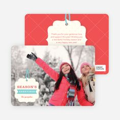 Gift Tag Holiday Photo Cards