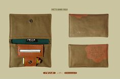 Porta tabacco in cotone canvas ed eco pelle, cotton fabric and fake leather made…