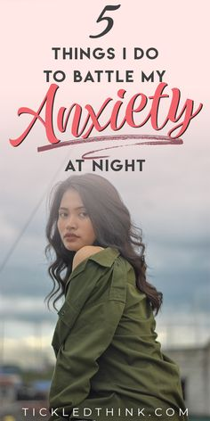Dealing with anxiety is something that plagues a lot of people. Managing anxiety daily can be difficult but coping with anxiety at night can even be harder. If you're also having trouble falling asleep because of anxiety, read on to learn the things I do to help calm my anxious mind and to help me overcome my nighttime anxiety.