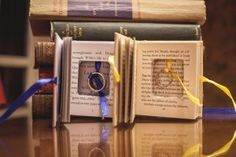Literary themed wedding - HilaryColleen Photography