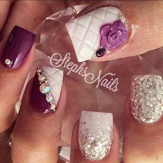 Instagram photo of acrylic nails by _stephsnails_ (Stephanie Rochester)