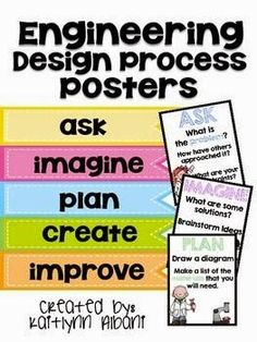 Engineering Design Process Poster Can Be Downloaded Stem Pinterest Engineering Design