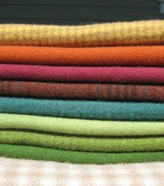 Hand Dyed and Felted Wool Fabric Perfect for Rug Hooking and Applique Number 2619