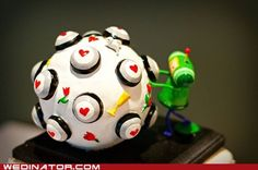I want to have a Katamari Damacy wedding cake too!