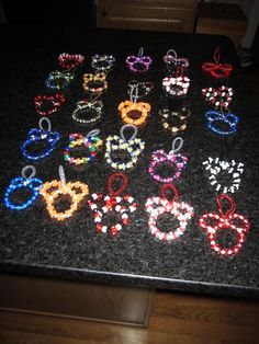 Mickey Bead Ornamants - make them tiny with seed beads - more classy - and for scrapbook pages