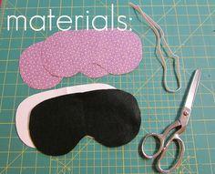 the red kitchen: Eye Mask -- Free Pattern & Tutorial