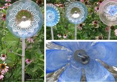 How to make glass garden flowers