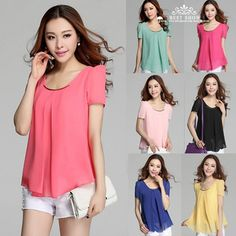 Free Shipping Plus Size Summer Clothes For Women 2014 New Fashion Casual Sequin O Neck Short Sleeve Chiffon Blouses With Ruffles