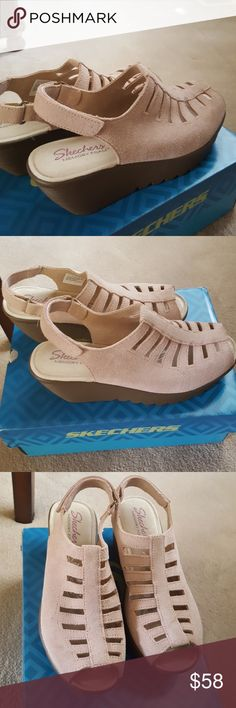 new arrival 51b21 fa5a8 I just added this listing on Poshmark  Skechers Leather Platforms, Memory  foam, Size