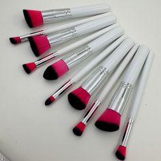 10x Kabuki Style Face Blush Powder Foundation Eye Shadow Lid Makeup Brushes Set
