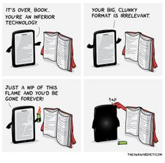 And the e-book v. print battle comes to a sudden halt...