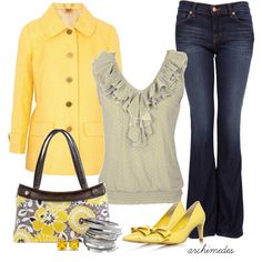 Yellow Yellow, created by archimedes16 on Polyvore