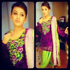 Love color combo on this Punjabi suit