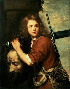"""1.Samuel 17#57 David Bearing the Head of Goliath. """"And as David returned from the slaughter of the Philistine, Abner took him, and brought him before Saul with the head of the Philistine in his hand."""""""