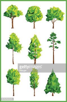 Vector Art : Geometric trees
