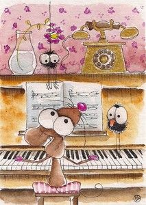 The piano mouse